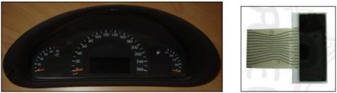 LCD display E Class instrument cluster